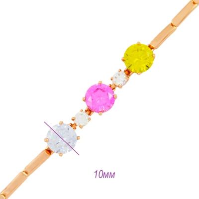 женский браслет 045 с фиолетовым камнем