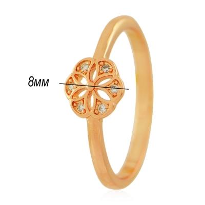 женское кольцо 057 под золото с белыми камнями