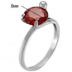 кольцо красная пресня с серебрением 925 пробы 192