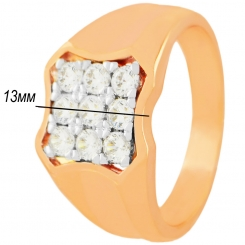 Перстень 023 - отличное сочетание цена/качество, бижутерия под золото оптом